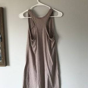 Gilligan & O'Malley Dresses - Long Tan Striped Nightgown/Comfy Dress